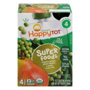 Happy Tot Organic Pears, Peas, Green Beans Pouch
