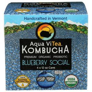 Aqua Vitea Organic Kombucha Blueberry Social