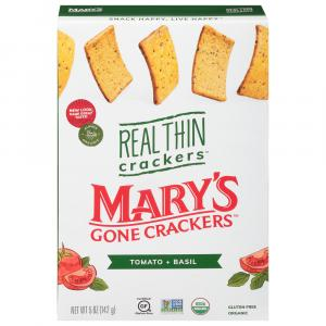 Mary's Gone Crackers Organic Tomato Basil Real Thin Crackers