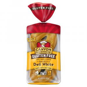 Canyon Bakehouse Gluten Free Bagels Deli White