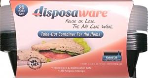 Disposaware Take-Out Containers with Lids