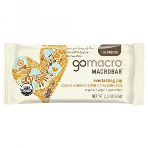 Go Macro Organic Coconut, Almond Butter & Chocolate Chip Bar