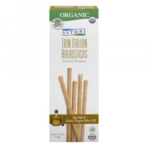 Asturi Organic Thin Italian Breadsticks Sea Salt & Olive Oil