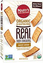 Mary's Organic & Gluten Free Real Thin Crackers Sweet Onion