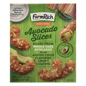 Farm Rich Avocado Slices With A Crispy Coating
