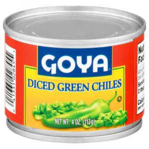 Goya Diced Green Chiles Fire Roasted