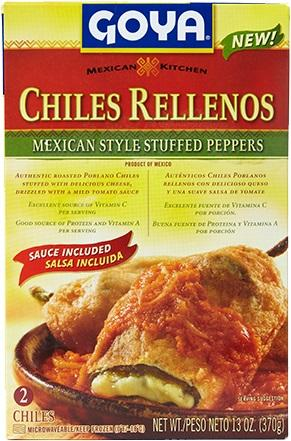 Goya Chiles Rellenos Mexican Style Stuffed Peppers