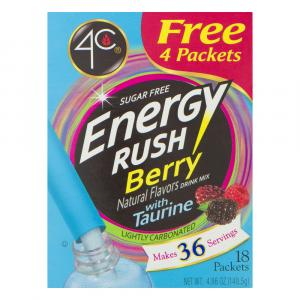 4c Energy Rush Berry Drink Mix
