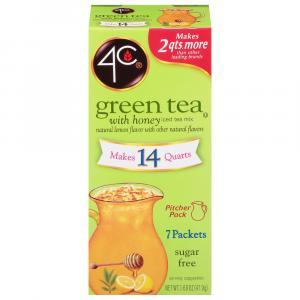 4C Green Tea with Honey & Lemon Flavor 14 Qt.