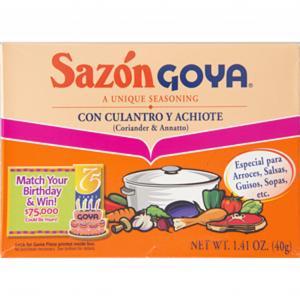 Sazon Goya Con Culantro Y Achiote (Coriander & Annatto)
