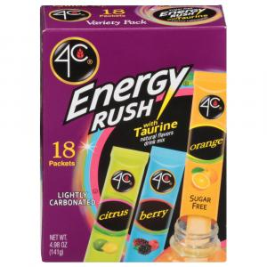 4c Energy Rush Variety Pack Drink Mix