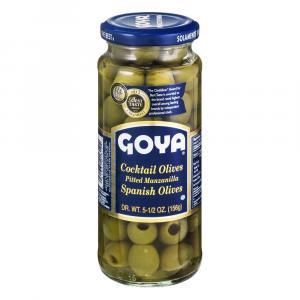 Goya Cocktail Olives Pitted Manzanilla Spanish Olives