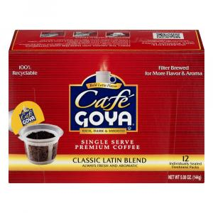 Cafe Goya Classic Latin Blend Coffee Cups