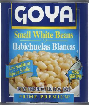 Goya Low Sodium Small White Beans