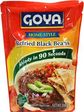 Goya Homestyle Refried Black Beans