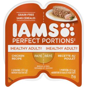 Iams Perfect Portions Healthy Adult Chicken Recipe Pate