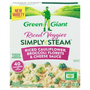 Green Giant Riced Veggies Simply Steam Cauliflower, Broccoli