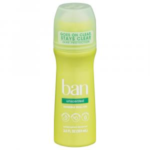 Ban Classic Unscented Roll-On Deodorant