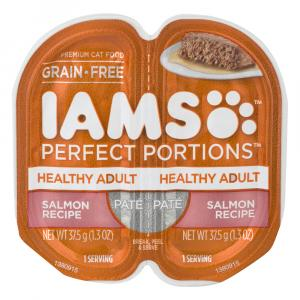 Iams Perfect Portions Healthy Adult Salmon Recipe Pate