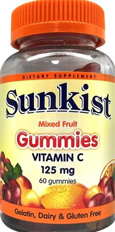 Sunkist Mixed Fruit Vitamin C Gummies
