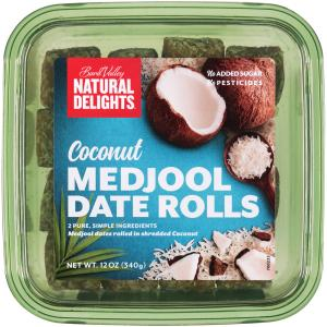 Natural Delights Coconut Date Rolls