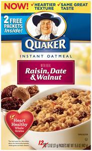 Quaker Raisin Date & Walnut Oatmeal