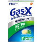 Gas-X Extra Strength Peppermint Creme Tablets