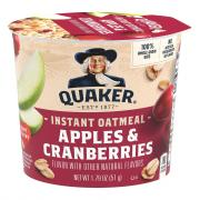 Quaker Instant Oatmeal Cup Apples & Cranberry