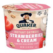 Quaker Strawberries & Cream Instant Oatmeal