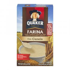 Quaker Creamy Wheat Cinnamon Farina