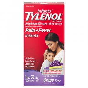 Infant's Tylenol Oral Suspension Pain + Fever Grape Flavor