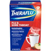 Theraflu Flu & Sore Throat Apple Cinnamon Flavor