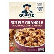 Quaker Simply Granola with Oats, Honey, Raisins & Almonds
