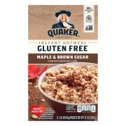 Quaker Gluten Free Maple Brown Sugar Oatmeal
