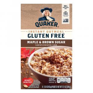 Quaker Gluten Free Maple Brown Sugar Oatmeal