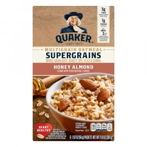 Quaker Super Grains Honey Almond Instant Hot Cereal