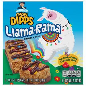 Quaker Chewy Dipps Llama-Rama Granola Bars