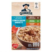 Quaker Low Sugar Variety Pack Oatmeal