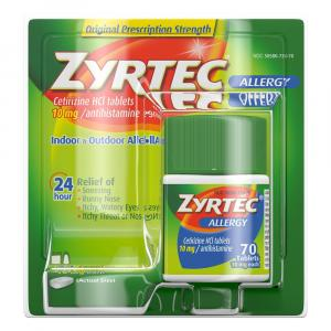 Zyrtec Indoor & Outdoor Allergy Tablets