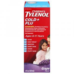 Children's Tylenol Cold and Flu Grape Flavor