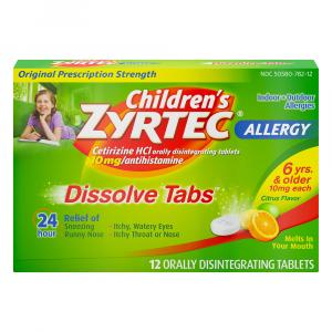 Children's Zyrtec Allergy Dissolve Tabs
