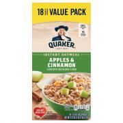 Quaker Apple Cinnamon Instant Oatmeal Value Pack