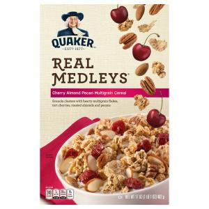 Quaker Real Medley's Cherry Almond Pecan Multigrain Cereal