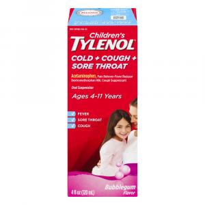 Children's Tylenol Cold, Cough, Sore Throat Age 4-11