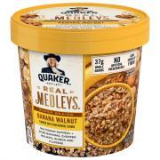 Quaker Real Medleys Banana Walnut Flavor Oatmeal