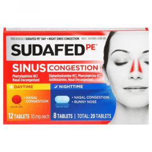 Sudafed PE Day and Night Sinus