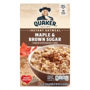 Quaker Maple & Brown Sugar Instant Oatmeal