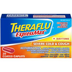 Theraflue Expressmax Day Severe Cold & Cough Coated Caplets