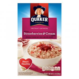 Quaker Strawberries & Cream Instant Oatmeal