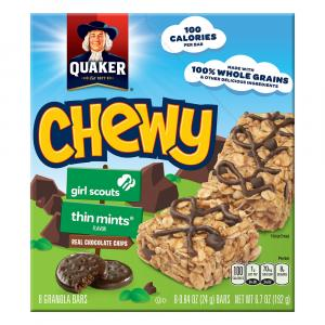 Quaker Girl Scout Thin Mint Granola Bars